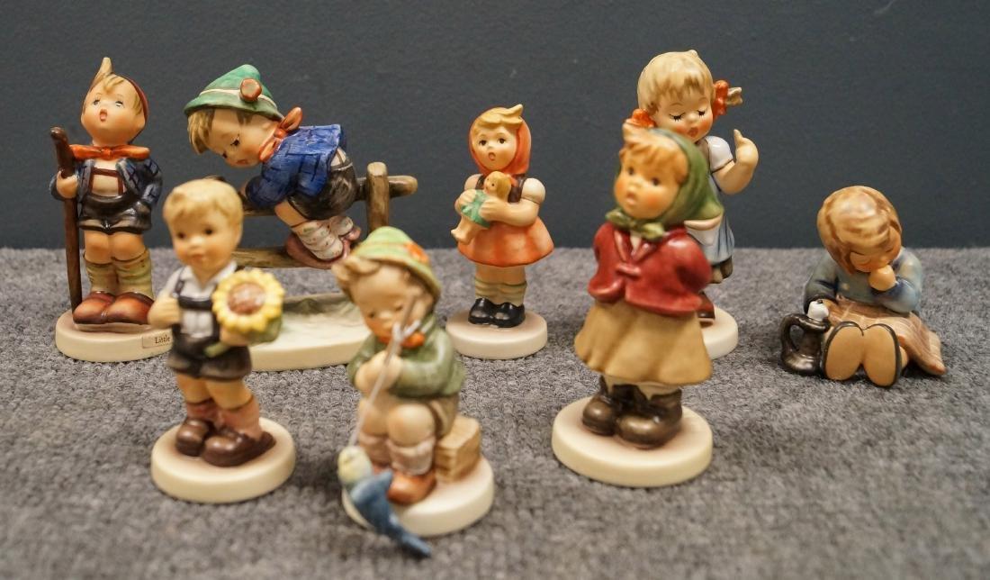 LOT (8) HUMMELS INCLUDING SUNFLOWER BOY, #2219; GIRL