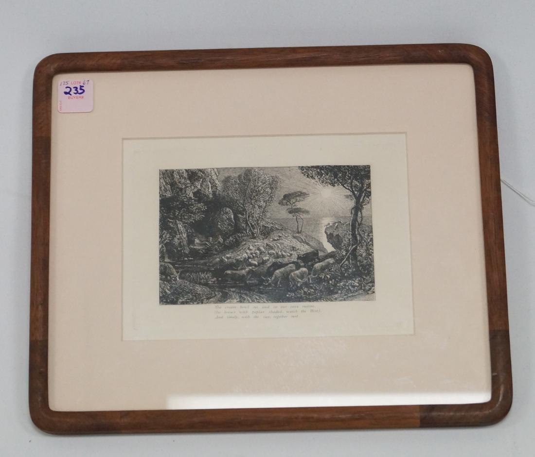 "SAMUEL PALMER (ENGLAND 1805-1881), ETCHING, ""MOERIS AND"