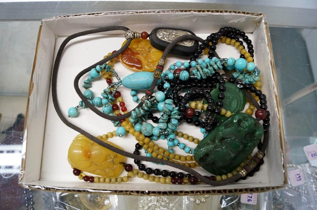 LOT (6) CHINESE/TIBETAN STYLE NECKLACES