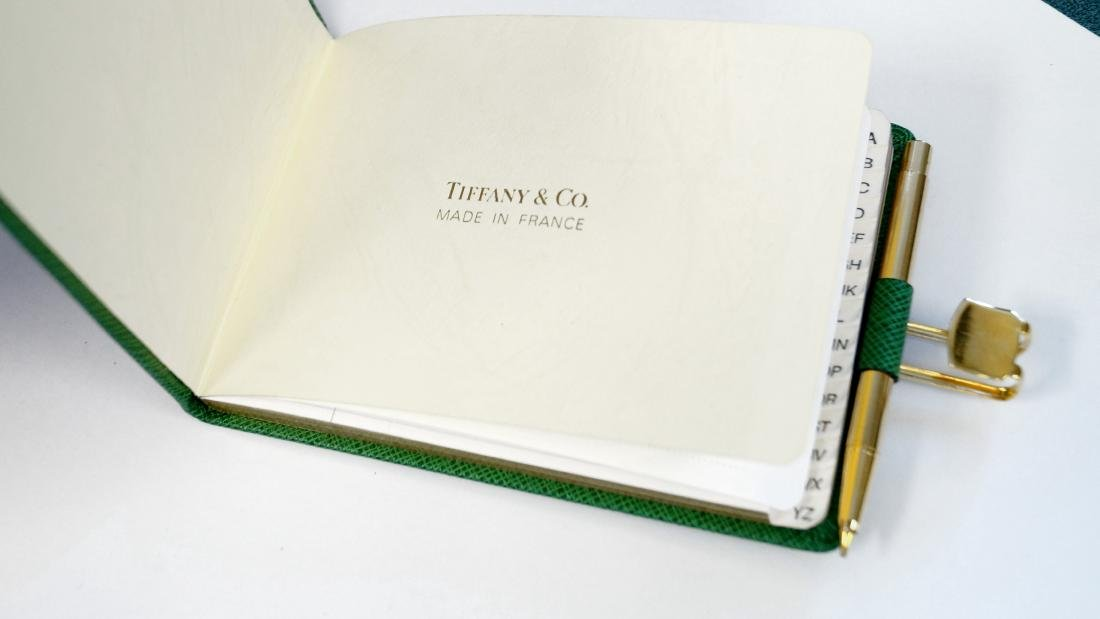 TIFFANY & CO. LEATHER ADDRESS BOOK WITH MECHANICAL - 2