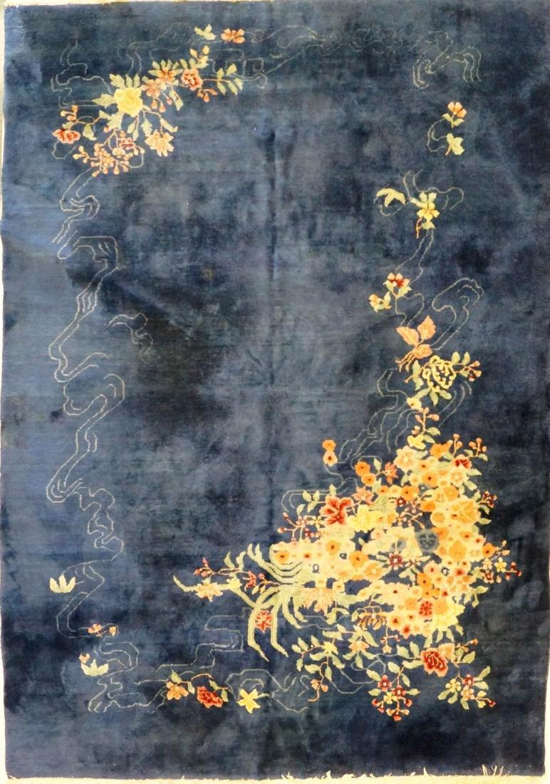 CHINESE NICHOLS CARPET. 9 X 12'