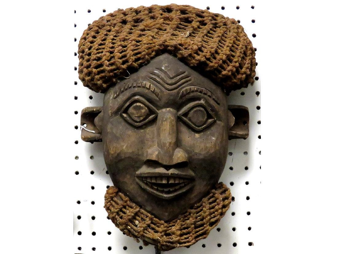 """BAUMUM, CAMEROON, CARVED MASK. HEIGHT 16"""""""