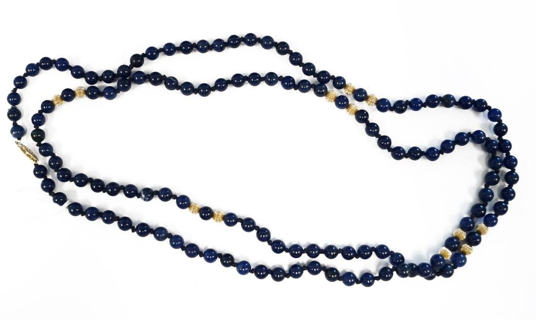 SINGLE STRAND 3.35-3.51MM LAPIS LAZULI NECKLACE (129