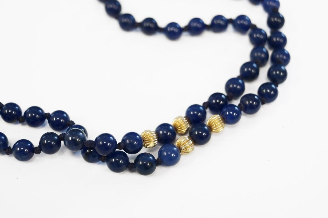SINGLE STRAND 3.35-3.51MM LAPIS LAZULI NECKLACE (129 - 2