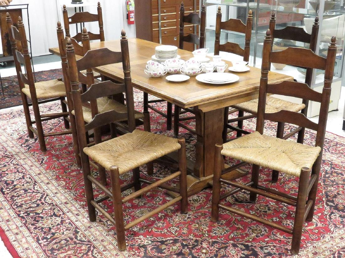 SET (8) WALLACE NUTTING 18TH CENTURY STYLE FRUITWOOD
