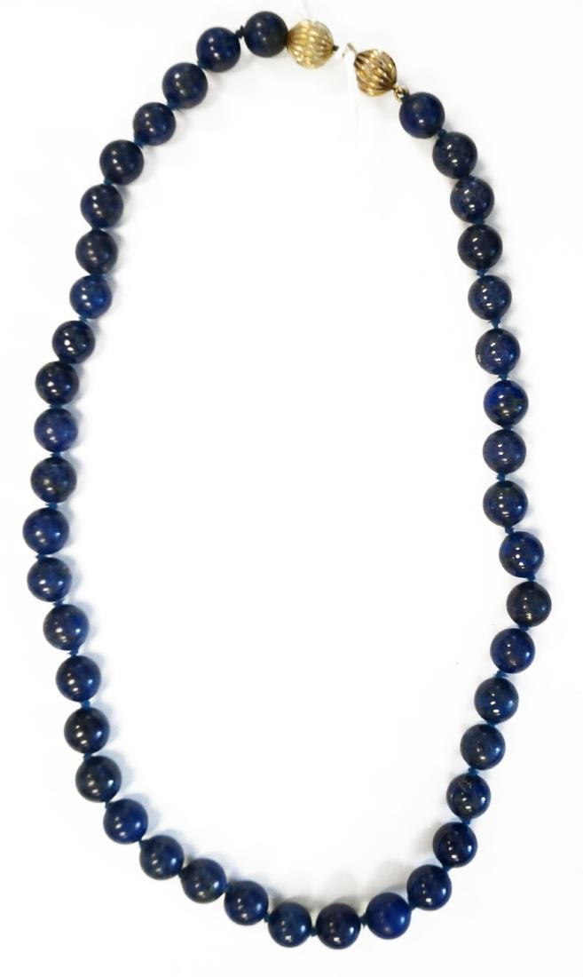STRAND 8.08-8.38 MM LAPIS LAZULI BEADED NECKLACE WITH