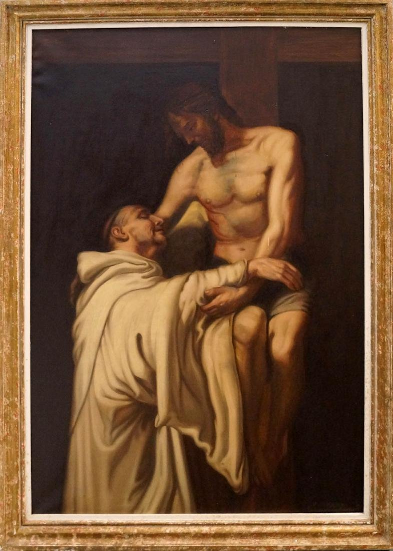 PAOLO BARONI (ITALIAN 1871-), OIL ON CANVAS, CHRIST AND