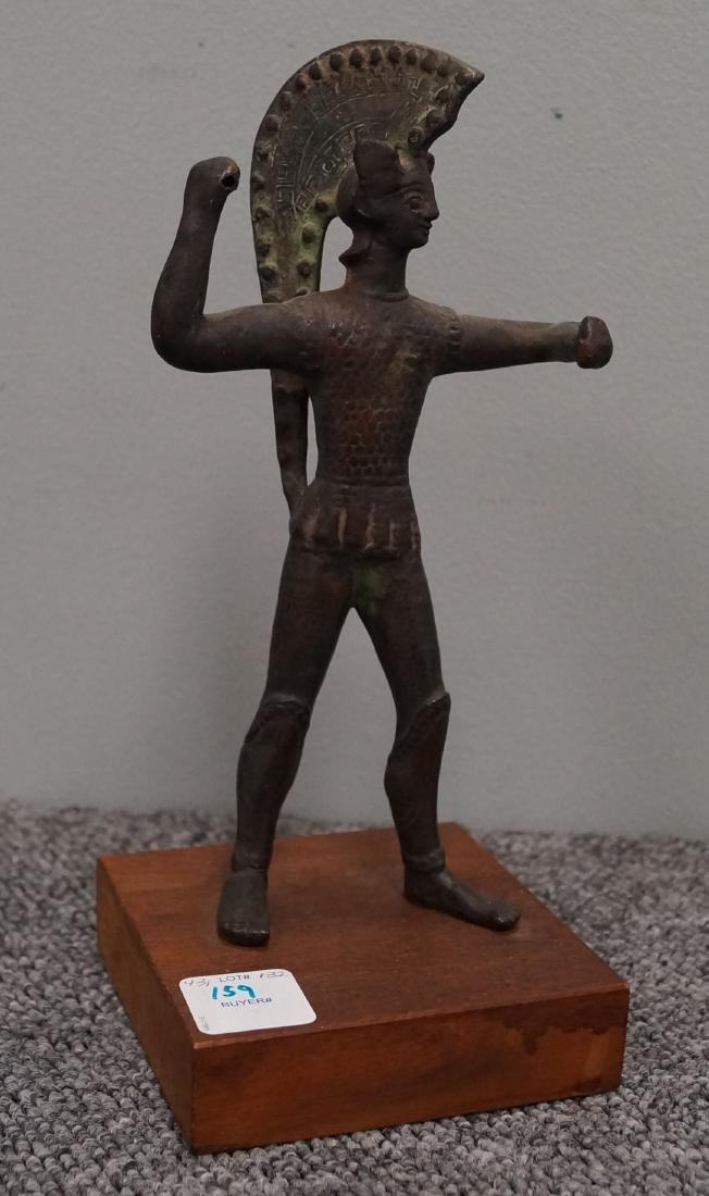 ETRUSCAN STYLE BRONZE FIGURE OF A WARRIOR (MUSEUM