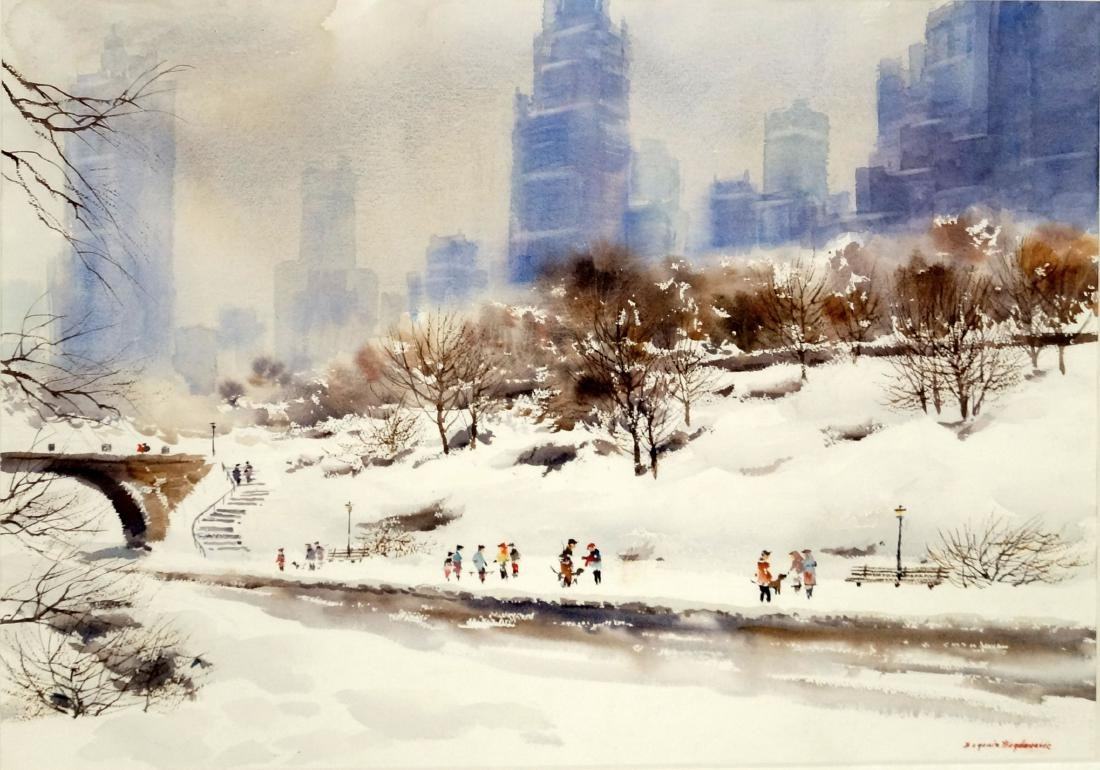 BOGOMIR BOGDANOVIC (AMERICAN 1923-2011), WATERCOLOR,