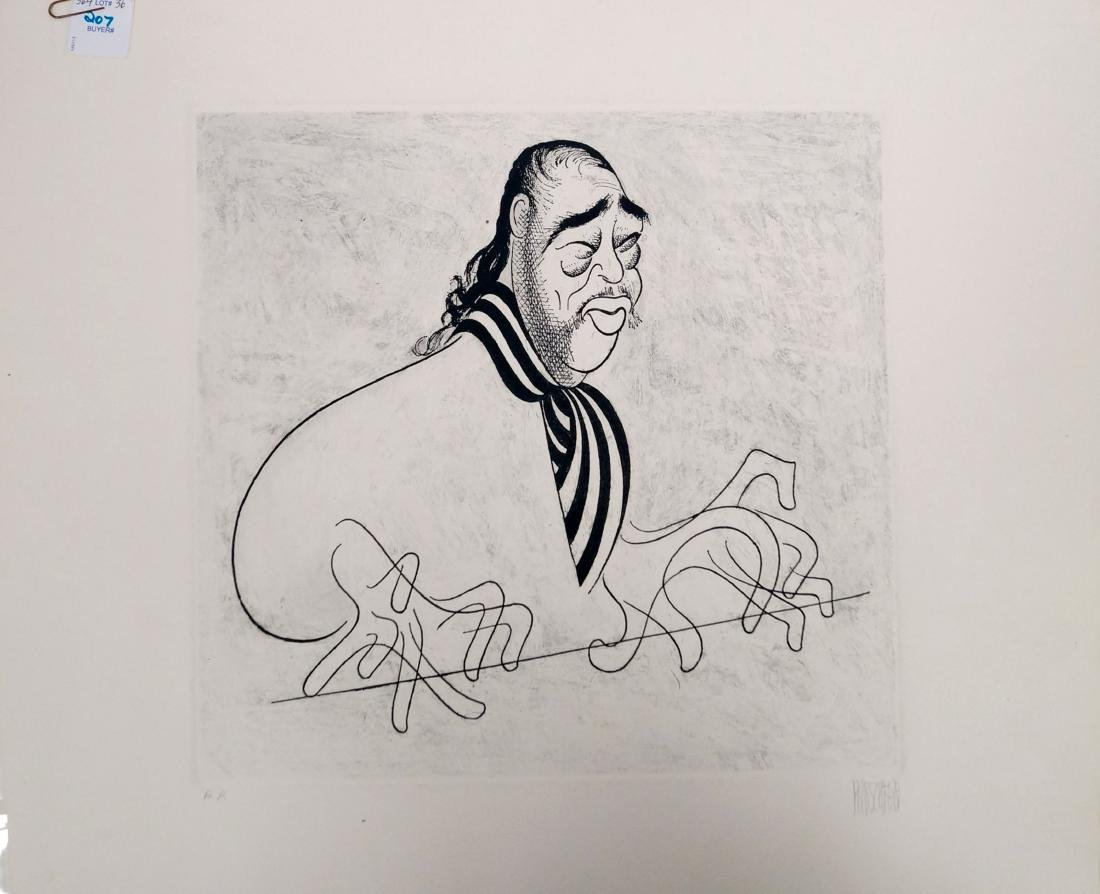 AL HIRSCHFELD (AMERICAN 1903-2006), ETCHING AND