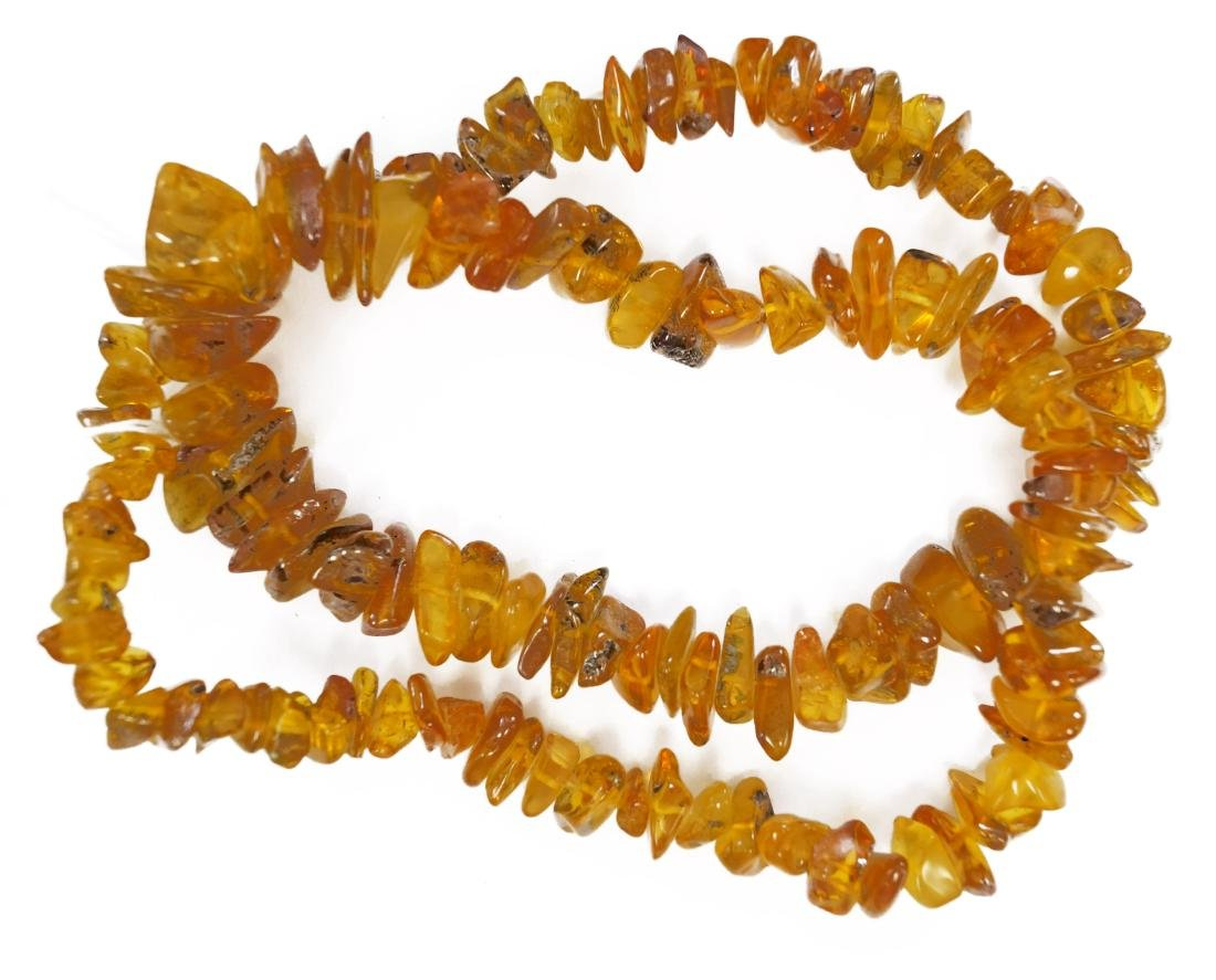 """AMBER NUGGET NECKLACE. LENGTH 24"""""""