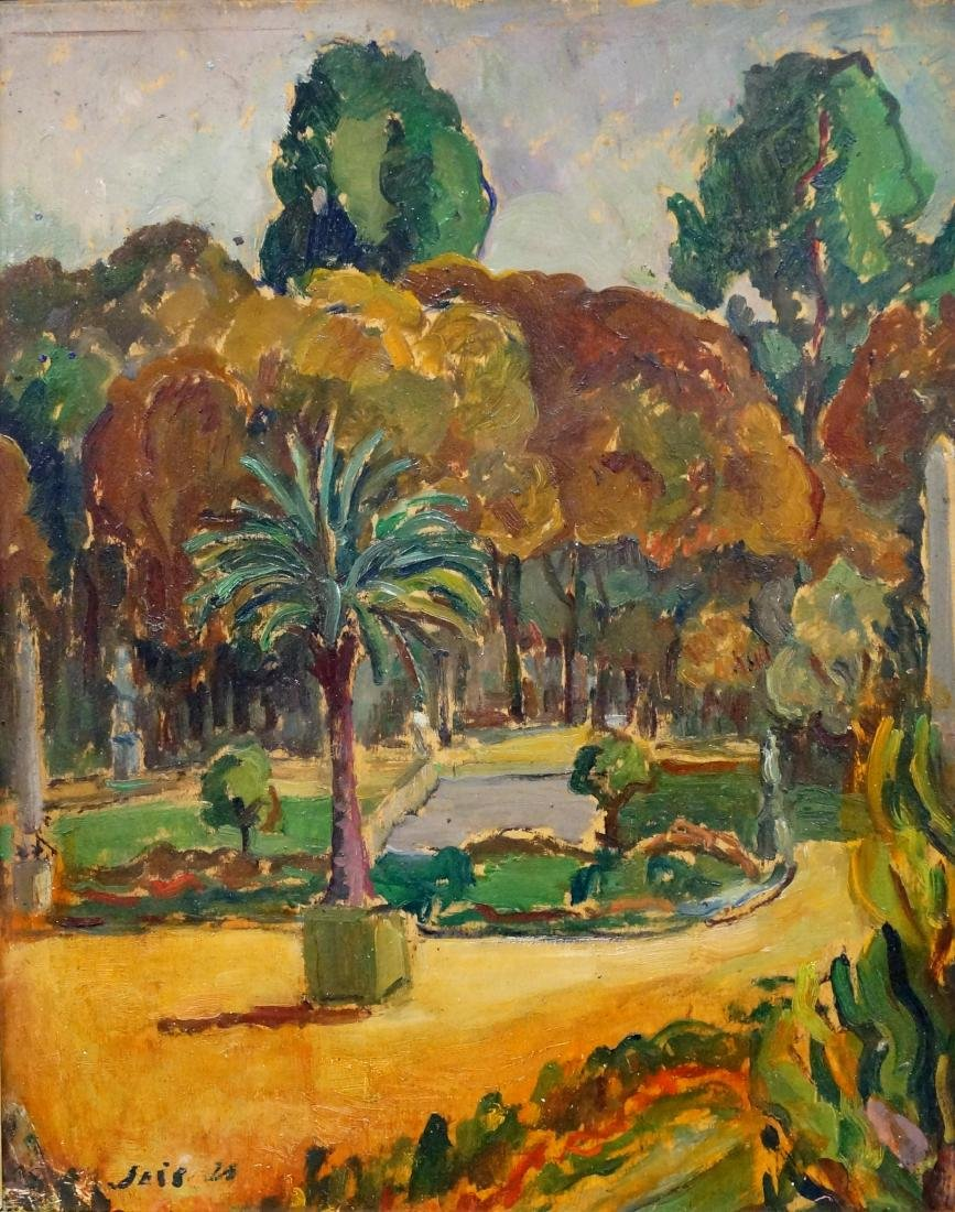 FRENCH SCHOOL (20TH CENTURY), OIL ON PANEL, VIEW ON THE