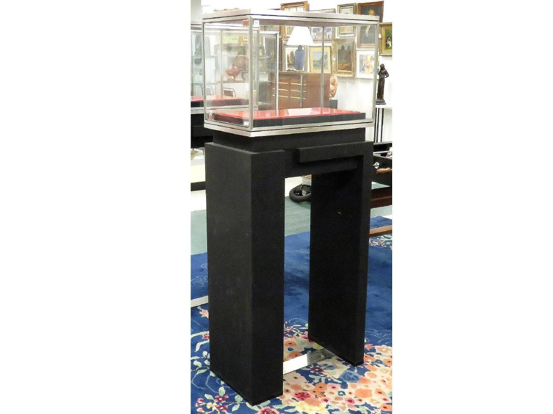"ITALIAN LED DISPLAY CASE. HEIGHT 69""; WIDTH 27 1/2"""