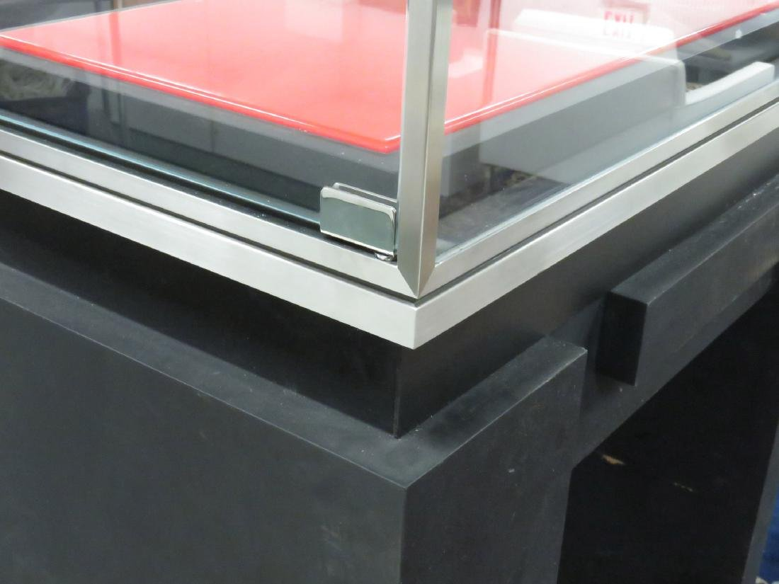 "ITALIAN LED DISPLAY CASE. HEIGHT 69""; WIDTH 27 1/2"" - 2"