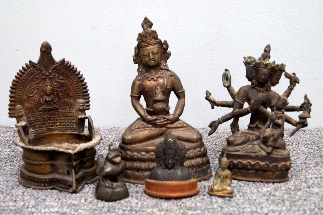 LOT (6) INDIAN, TIBETAN AND SOUTHEAST ASIAN BRONZE