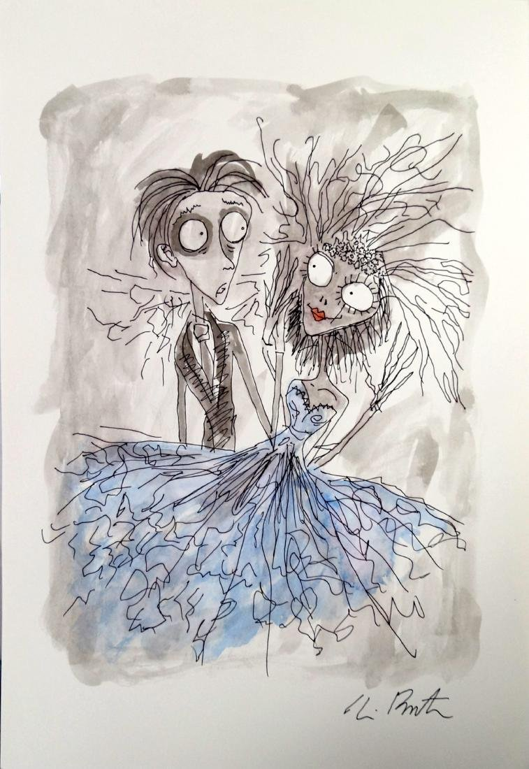 TIM BURTON (AMERICAN 1958-), INK AND WASH ON PAPER,