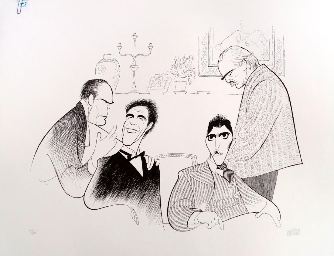 AL HIRSCHFELD (AMERICAN 1903-2006), LITHOGRAPH, THE