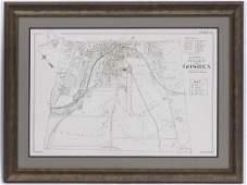 VINTAGE STREET MAP, VILLAGE OF GOSHEN, FROM ORANGE