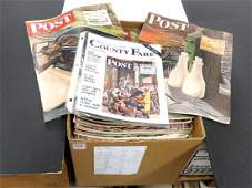 LOT (59) SATURDAY EVENING POST MAGAZINES, COVER BY
