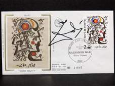 SALVADOR DALI SPANISH 19041989 AUTOGRAPHED FRENCH