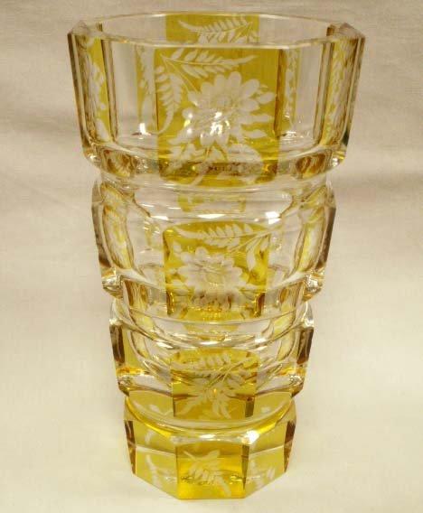 9: CONTINENTAL CARVED ART GLASS VASE