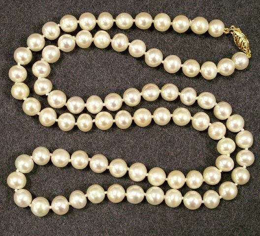 14: PINK OVAL CULTURED FRESHWATER PEARL NECKLACE