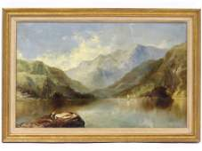 CONTINENTAL SCHOOL 19TH CENTURY OIL ON CANVAS RIVER