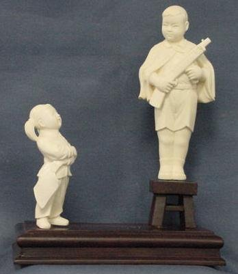 2016: CHINESE CARVED IVORY FIGURES
