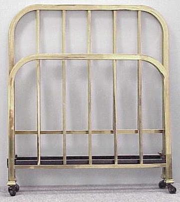 2018: PAIR ART DECO BRASS SINGLE BEDS, C.1930