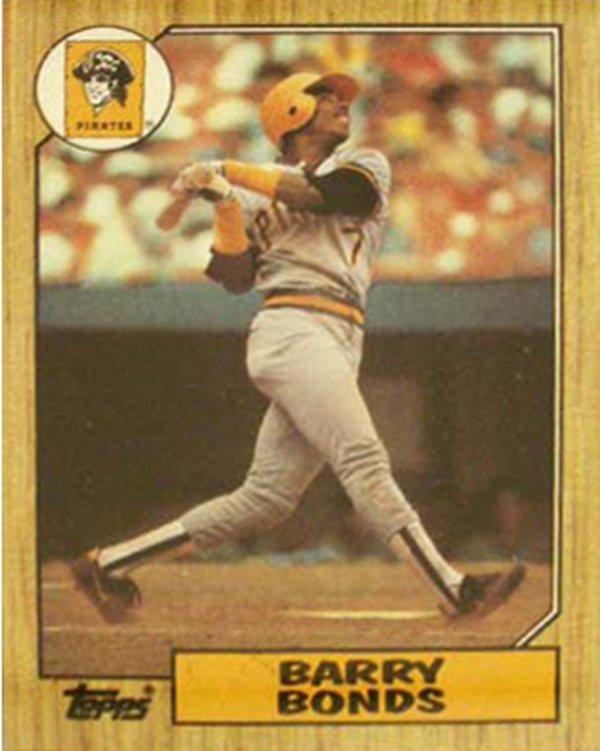 1008: 1987 BARRY BONDS TOPPS ROOKIE CARD