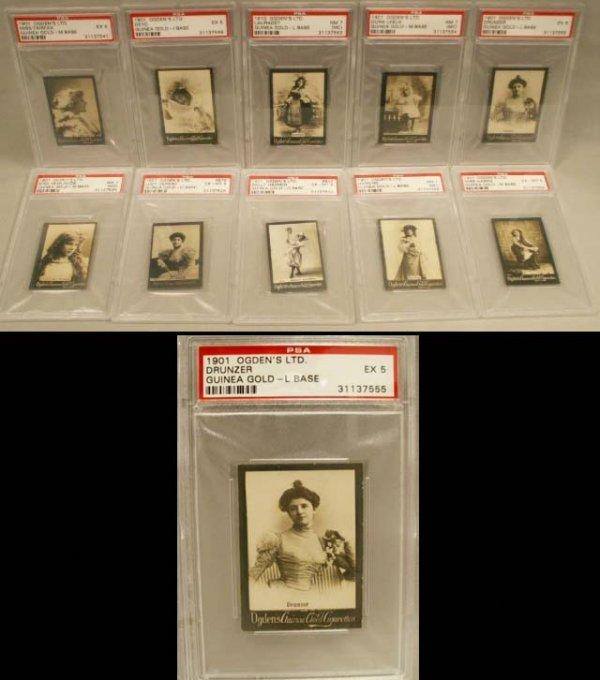 1012: 1901 OGDEN'S GUINEA GOLD CIGARETTE PHOTO CARDS