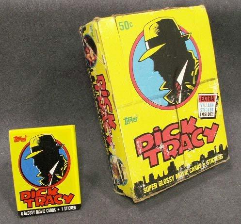 1013: BOX (36) VINTAGE TOPP'S DICK TRACY MOVIE CARDS