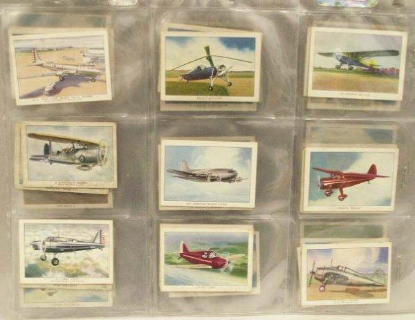 "1014: WINGS CIGARETTE CARDS ""MODERN AMEERICAN AIRPLANES"
