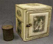 1219 LOT 2 INCLUDING VINTAGE SCHEPPS TIN CAKE BOX