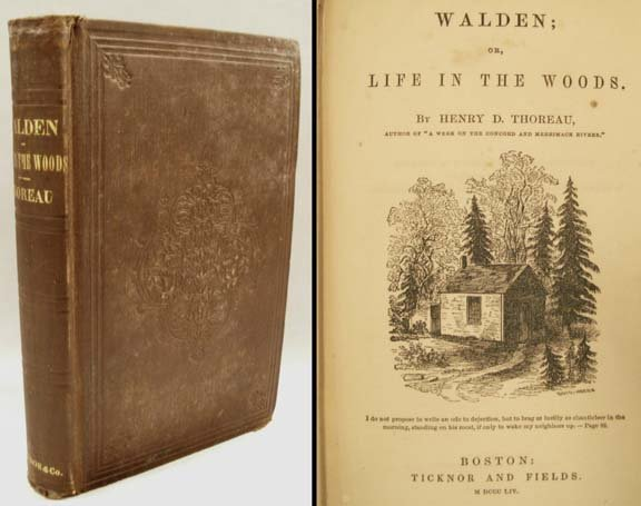 1342: VOLUME-WALDEN OR, LIFE IN THE WOODS, HENRY THOREA
