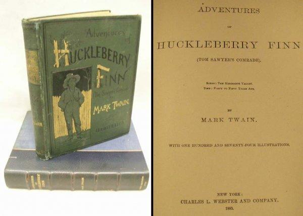 1346: VOLUME-ADVENTURES OF HUCKLEBERRY FINN, TWAIN