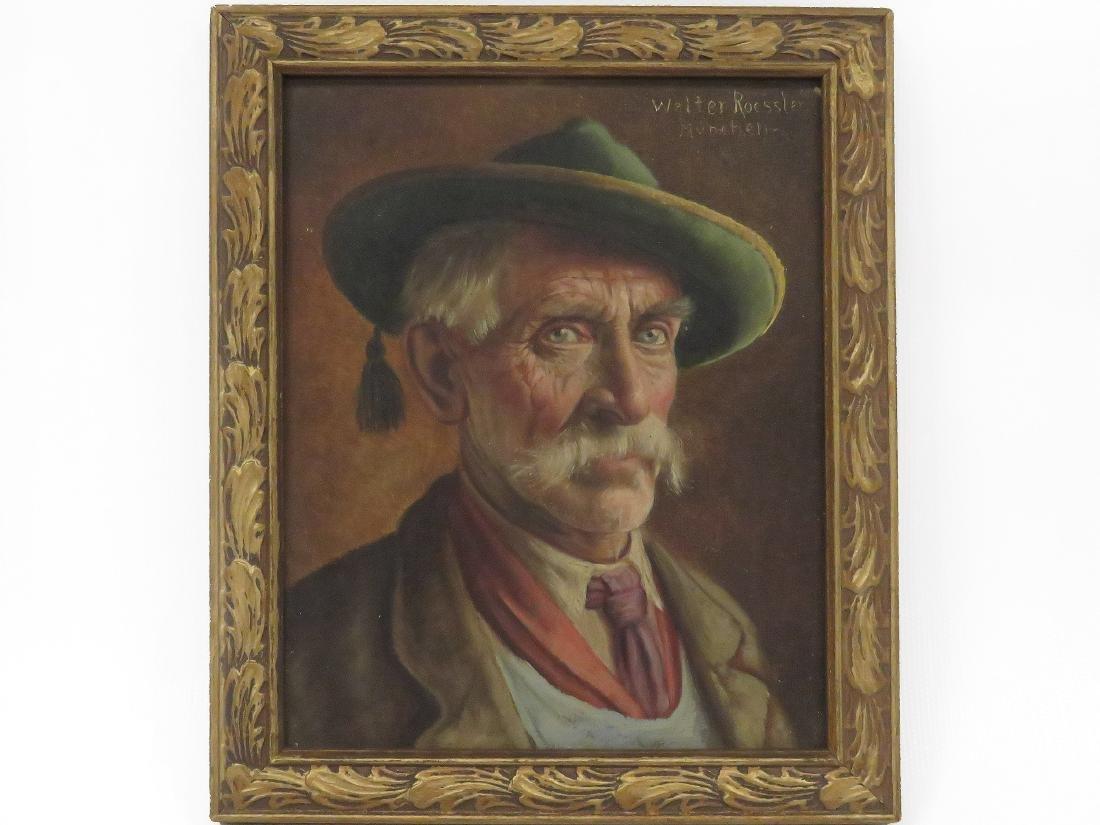 WALTER ROESSLER (GERMAN 1893-1960), OIL ON PANEL, MAN