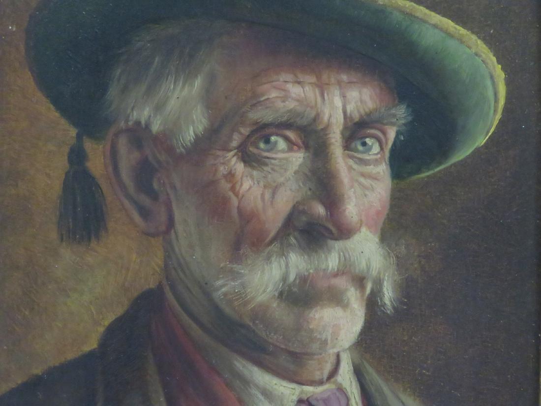 WALTER ROESSLER (GERMAN 1893-1960), OIL ON PANEL, MAN - 2