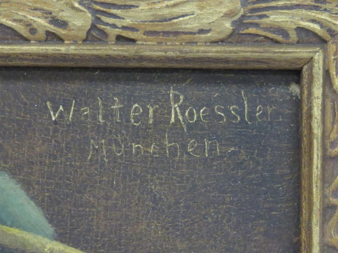 WALTER ROESSLER (GERMAN 1893-1960), OIL ON PANEL, MAN - 3