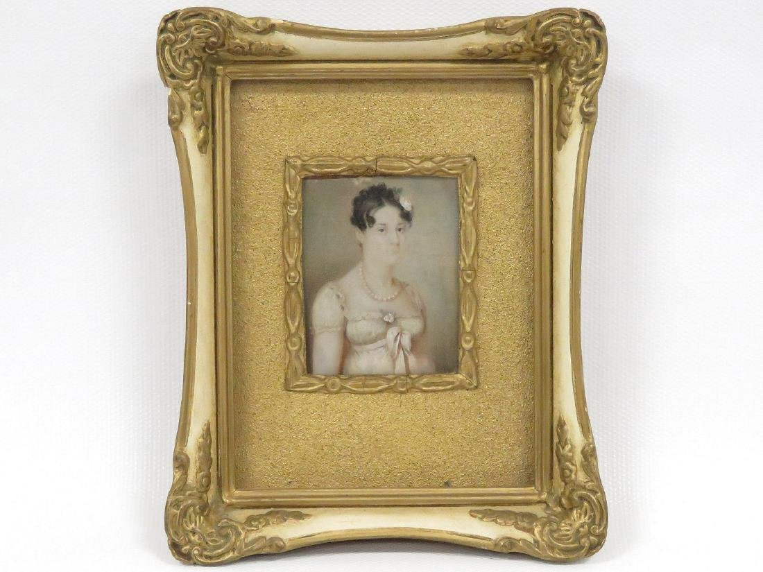 FRENCH SCHOOL (19TH CENTURY), WATERCOLOR MINIATURE