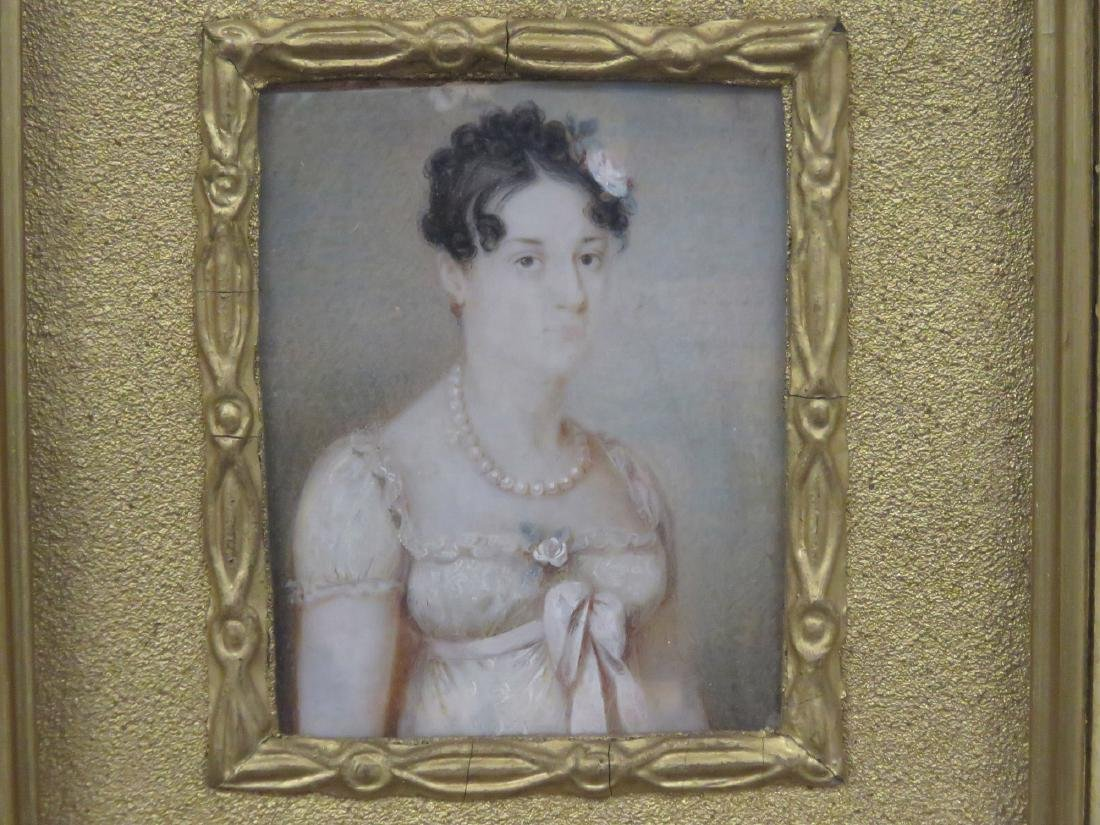 FRENCH SCHOOL (19TH CENTURY), WATERCOLOR MINIATURE - 2