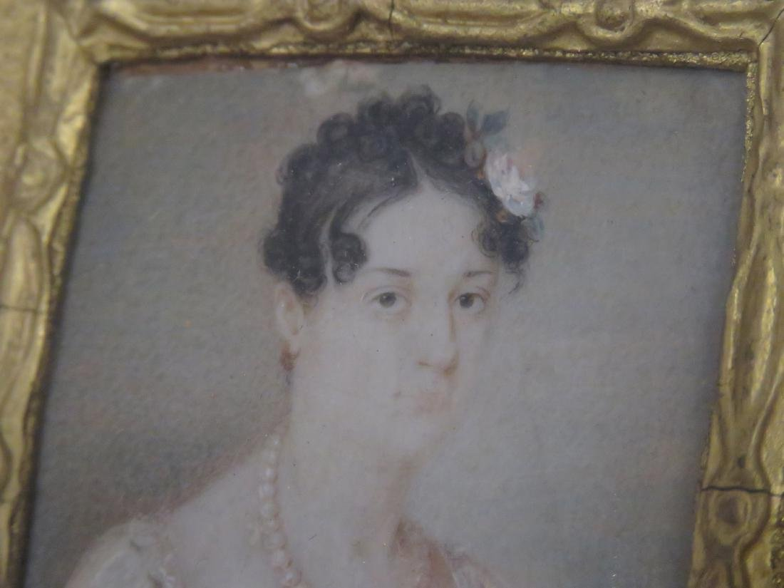FRENCH SCHOOL (19TH CENTURY), WATERCOLOR MINIATURE - 3