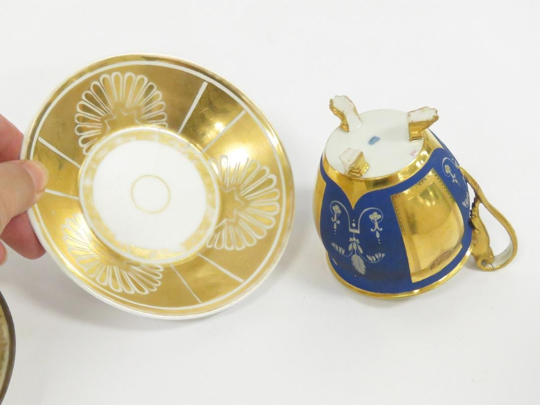 LOT (3) ROYAL VIENNA PORCELAIN DECORATED CUPS AND - 5