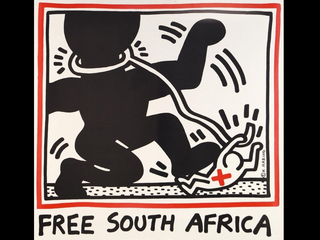 KEITH HARING (AMERICAN 1958-1990), POSTER ON FOAM