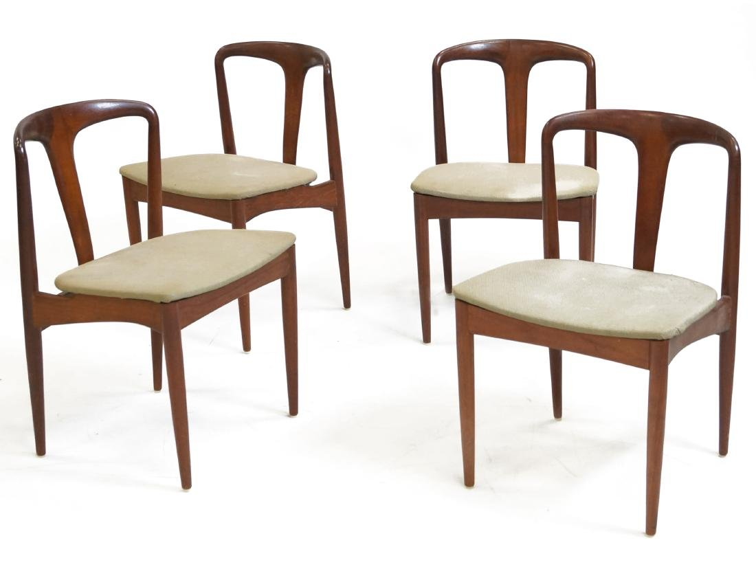 SET (4) SCOVBY DANISH TEAK DINING CHAIRS