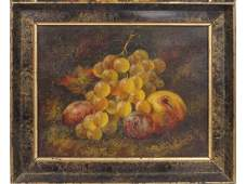 CONTINENTAL SCHOOL 19TH CENTURY OIL ON CANVAS STILL