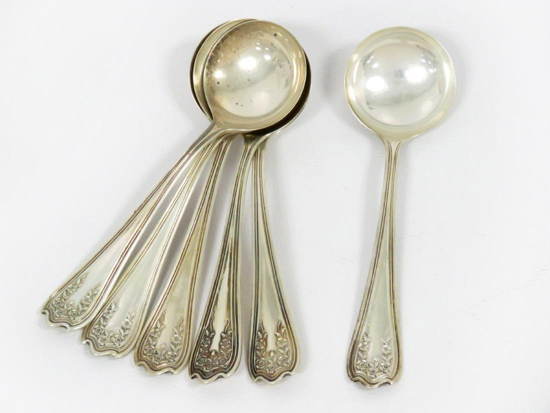 SET (6) THE STERLING SILVER MANUFACTURING COMPANY CREAM