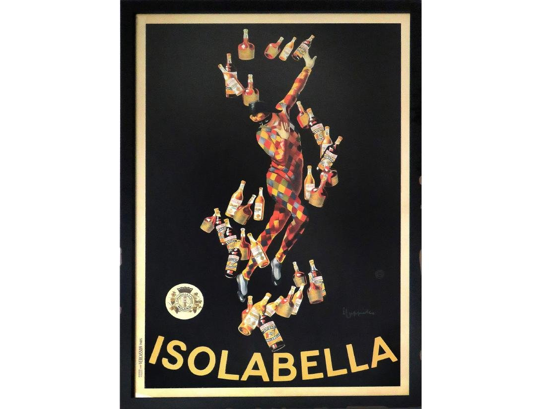 FRENCH OFFSET LITHOGRAPH POSTER, ISOLABELLA LIQUORS,