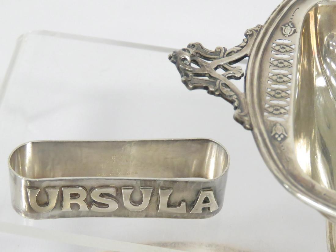 "LOT INCLUDING STERLING INSERT; NAPKIN RING, ""URSULA""; - 2"