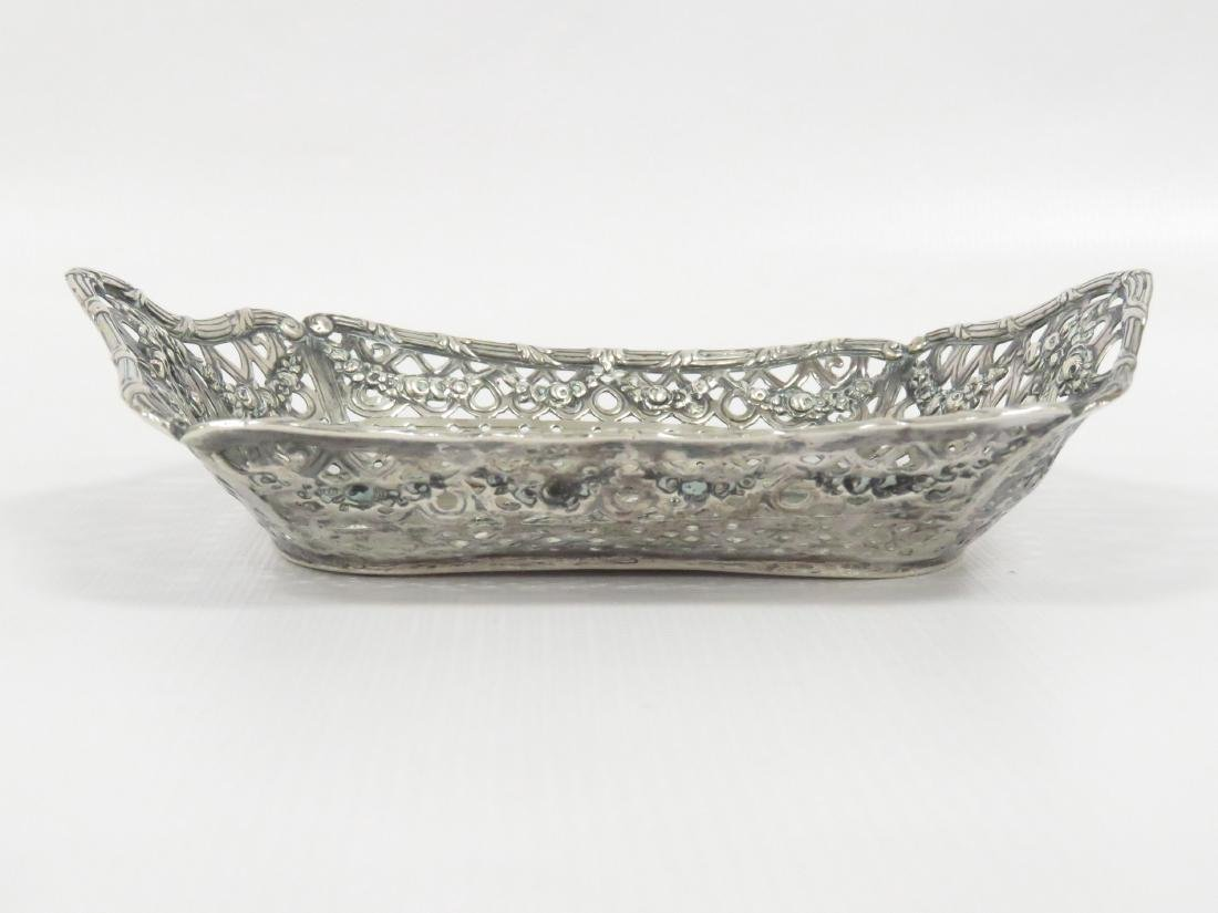 """CONTINENTAL 800 SILVER REPOUSSE DISH. 4 X 6""""; 2.99 OZT - 2"""